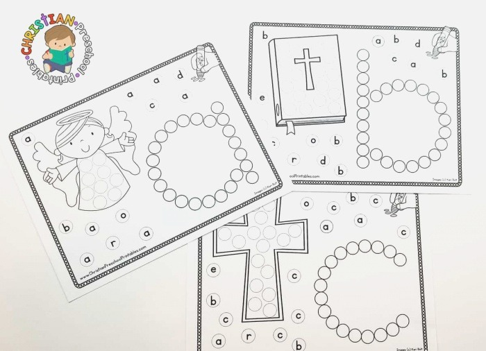 Bible Abc Dab & Dot Worksheets the Crafty Classroom