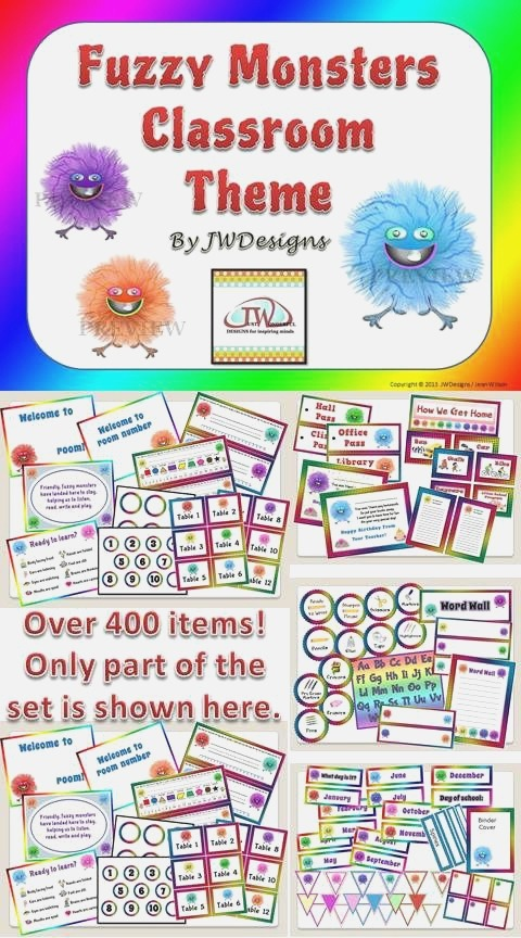Classroom themes Fuzzy Monsters