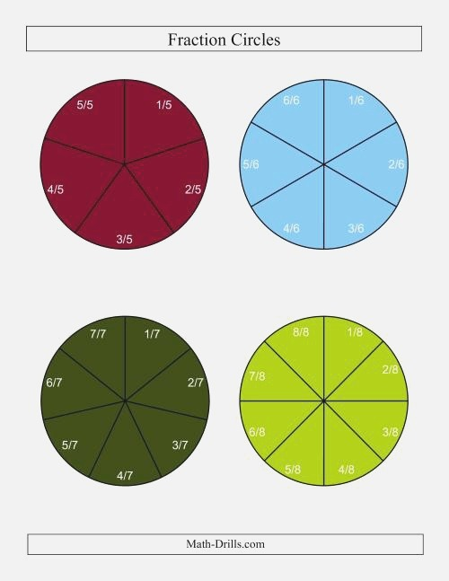 Color Fraction Circles with Labels C
