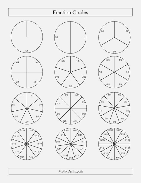 Color Fractions to Match Circles