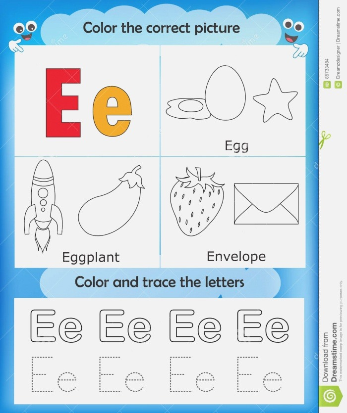 Color with the Letter E Iammrfoster