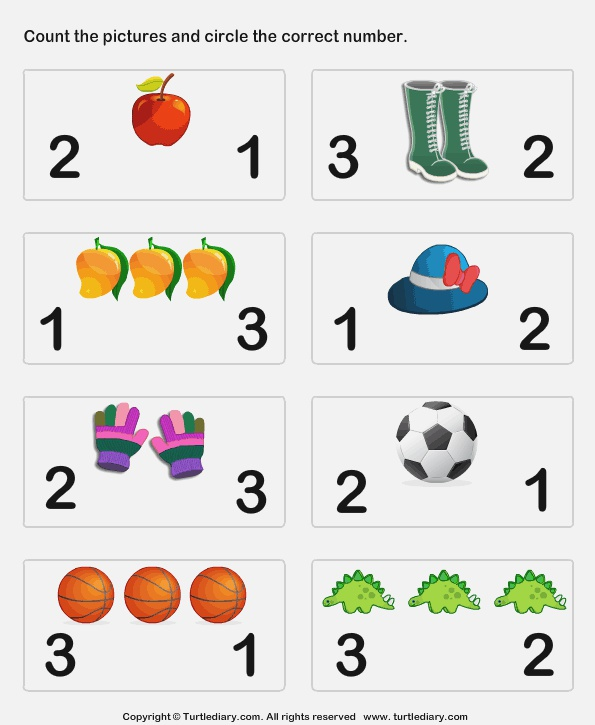 Count and Circle Worksheet Turtle Diary