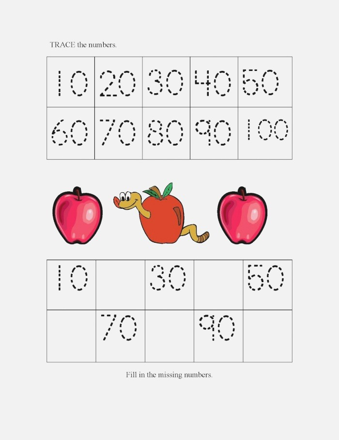 Count by 10s Worksheets
