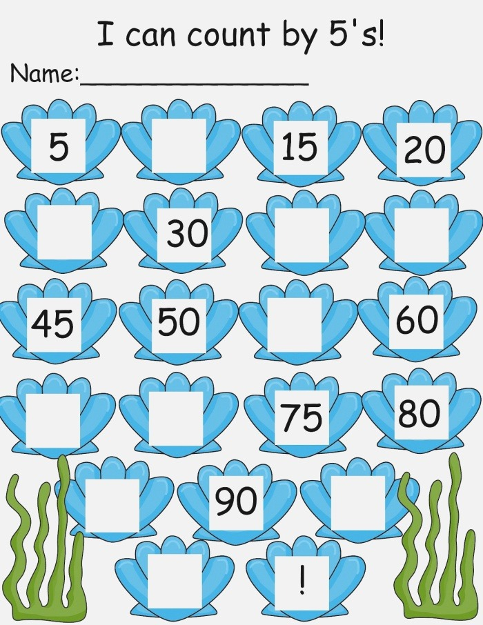 Count by 5s Worksheets Printable