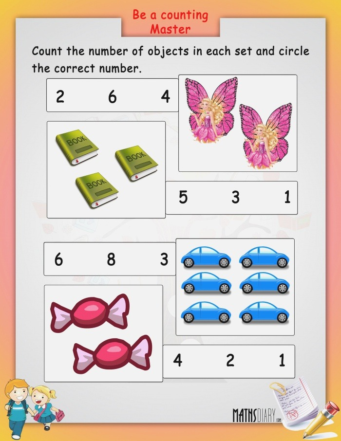 Count Objects In Each Set Math Worksheets Mathsdiary