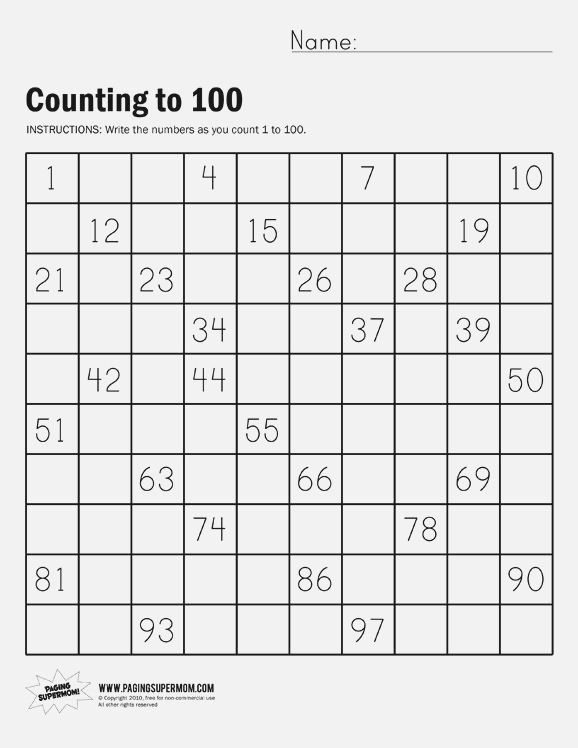 Count to 100 with Help