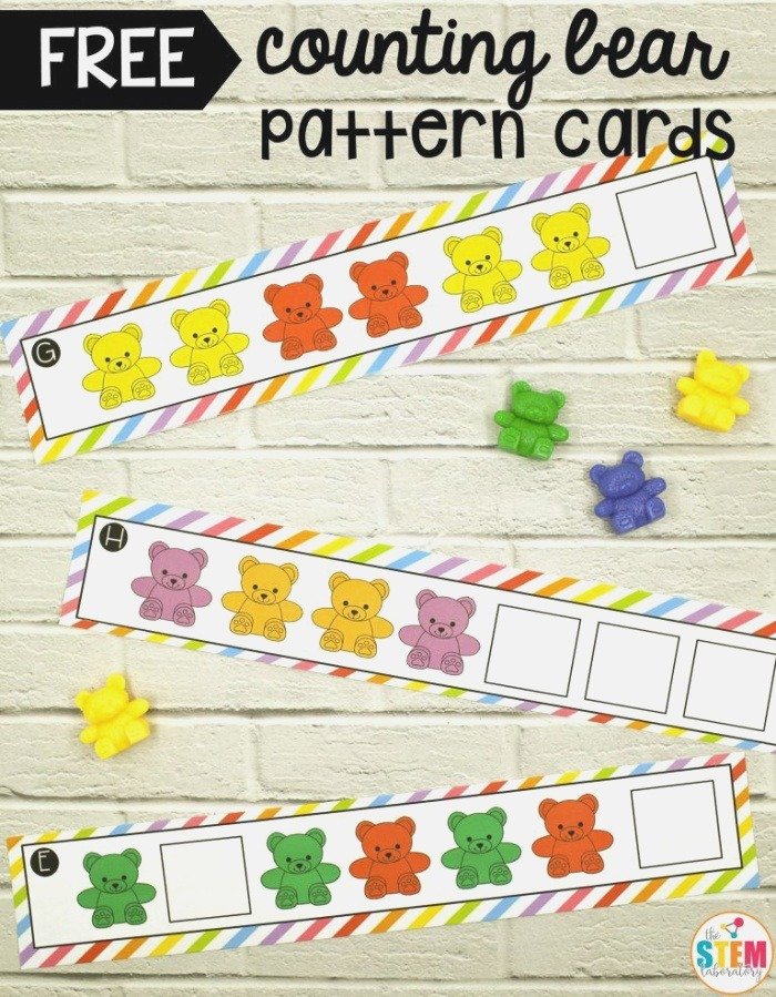 Counting Bear Pattern Cards the Stem Laboratory