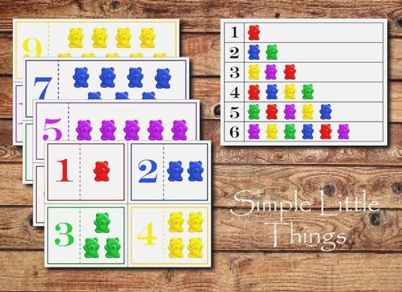 Counting Bears Activity Diy Printables for toddlers