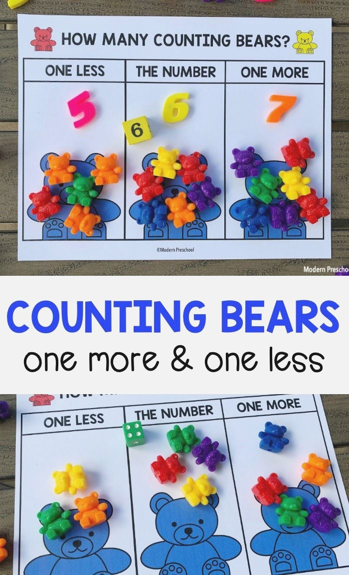 Counting Bears E More E Less Number Mats In 2020