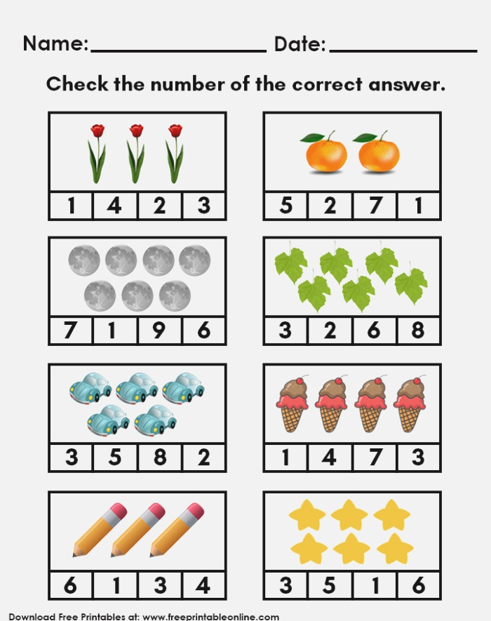 Counting Objects Image by Free Printable On Math & More