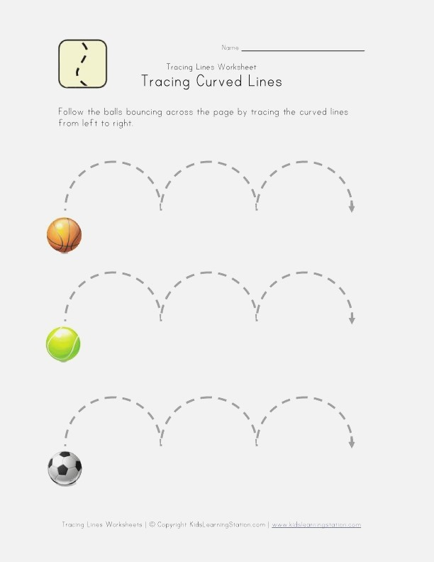 Curved Lines Worksheet Things to Teach