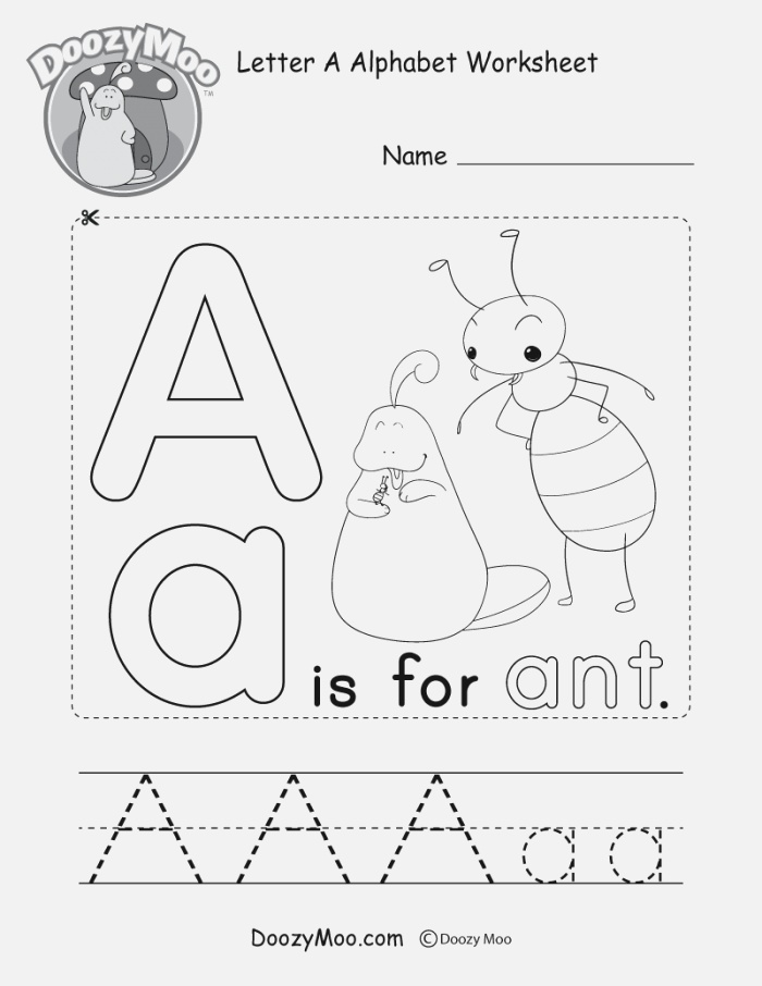 Cute Uppercase Letter A Coloring Page Free Printable