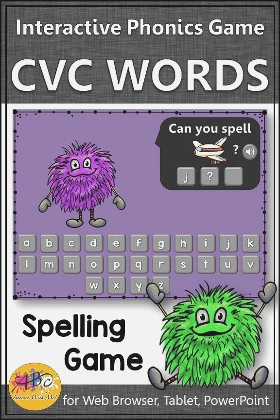 Cvc Spelling Game Short Vowels Interactive Spelling Game