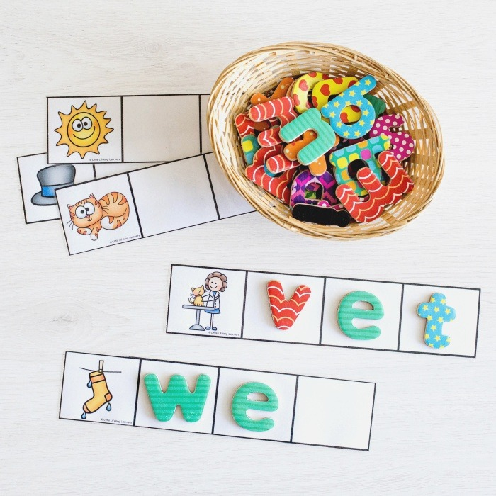 Cvc Word Cards for Magnetic Letters Little Lifelong Learners