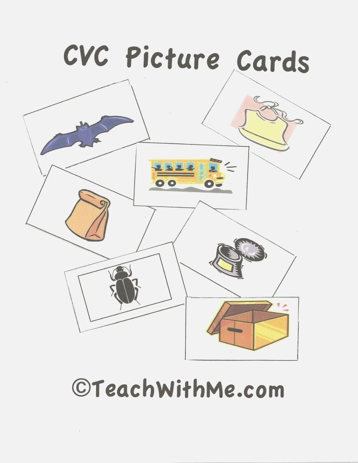 Cvc Word & Picture Cards Classroom Freebies