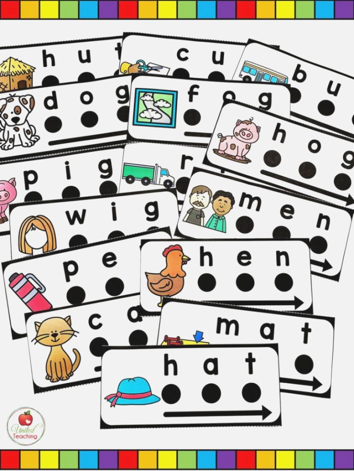 Cvc Words Blend and Read Cards and Activities United