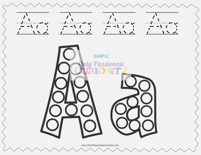 Dab A Dot Worksheets Abcs Ly Passionate Curiosity