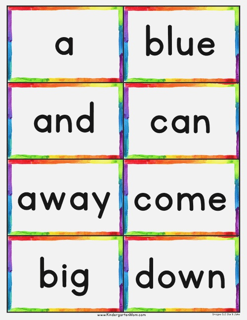 Dolch 220 Sight Word List & Flash Cards
