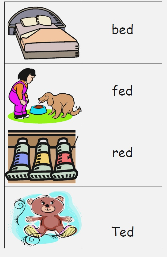 Ed Word Family One Of the Free Word Family Printables