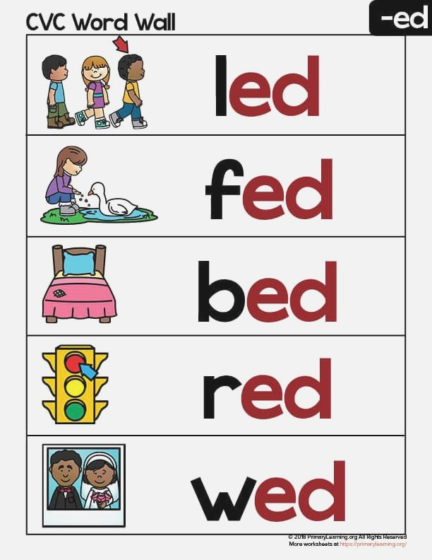 Ed Word Family Word Wall Primarylearning