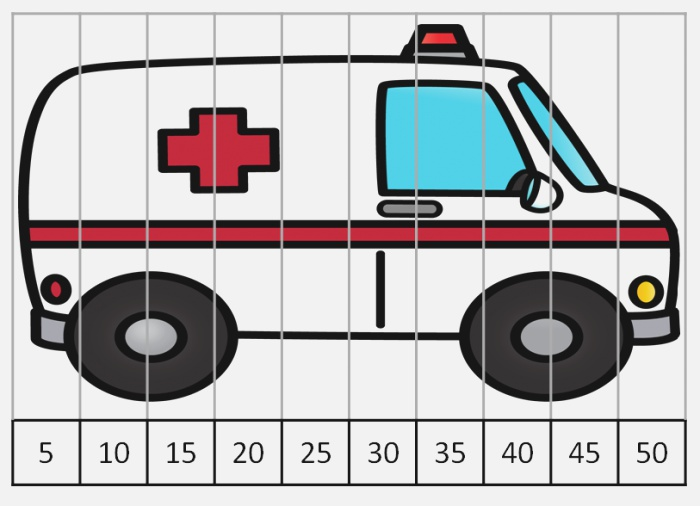 Editable Munity Helper Vehicle Counting Puzzles