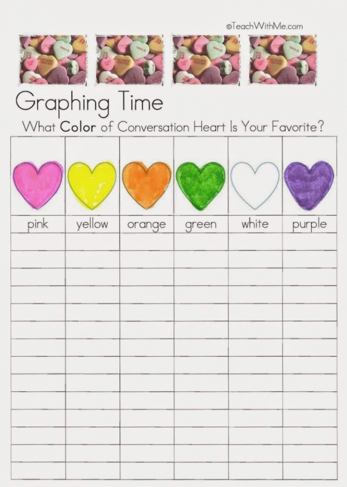 February Fun with Candy Conversation Hearts Classroom