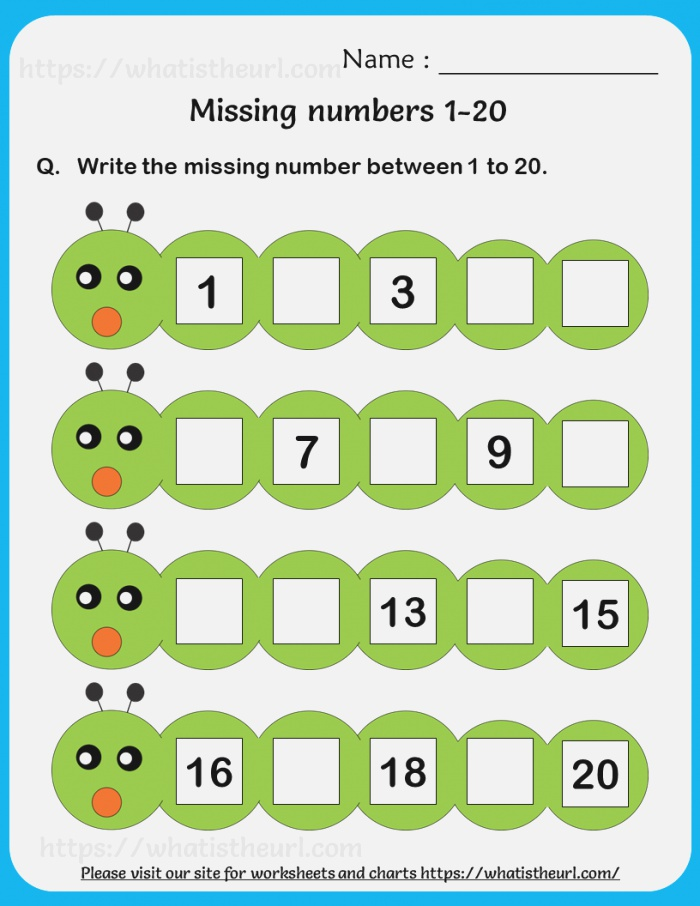 Find the Missing Number 1 20 3 Your Home Teacher