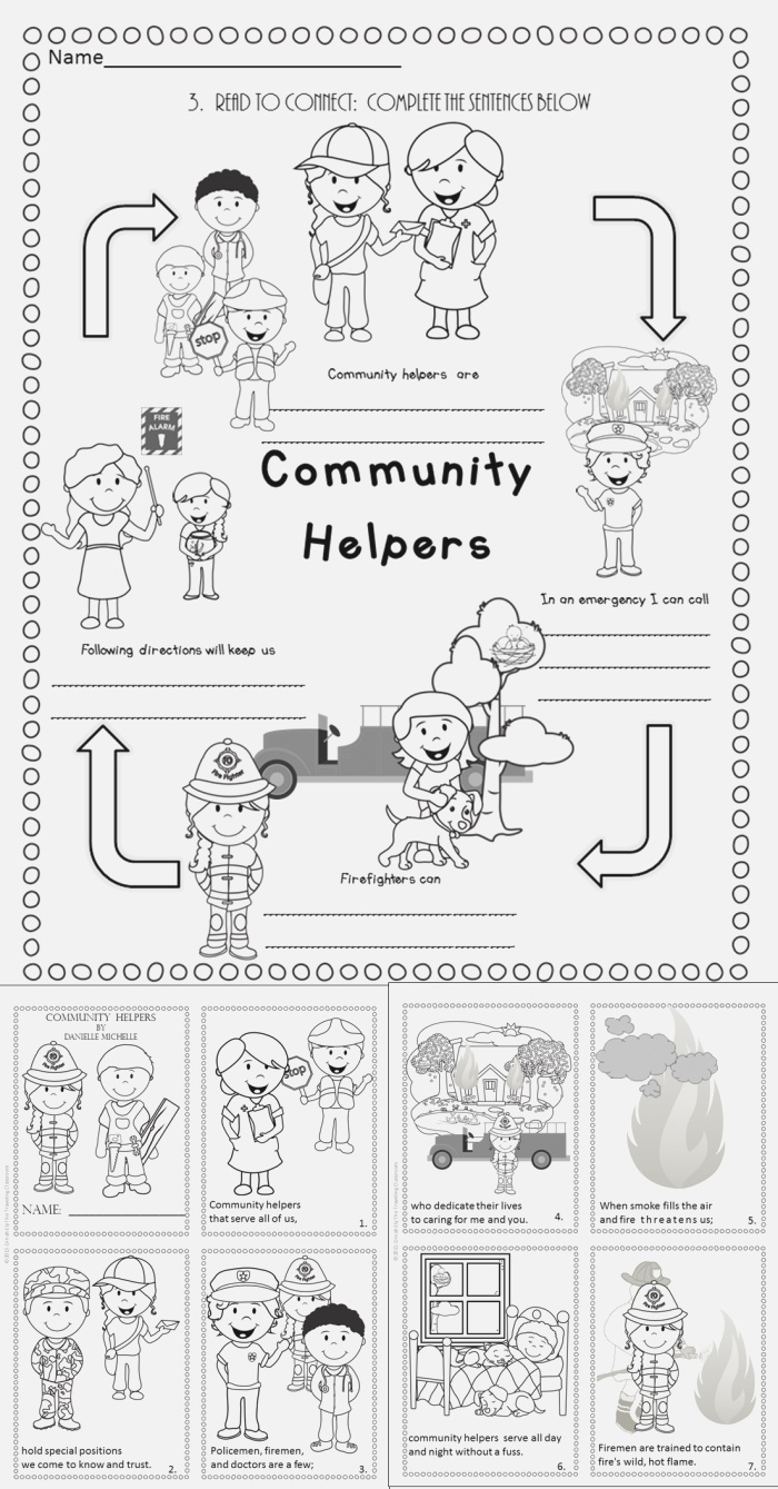 Fire Safety Munity Helpers Poetry Close Reading Set