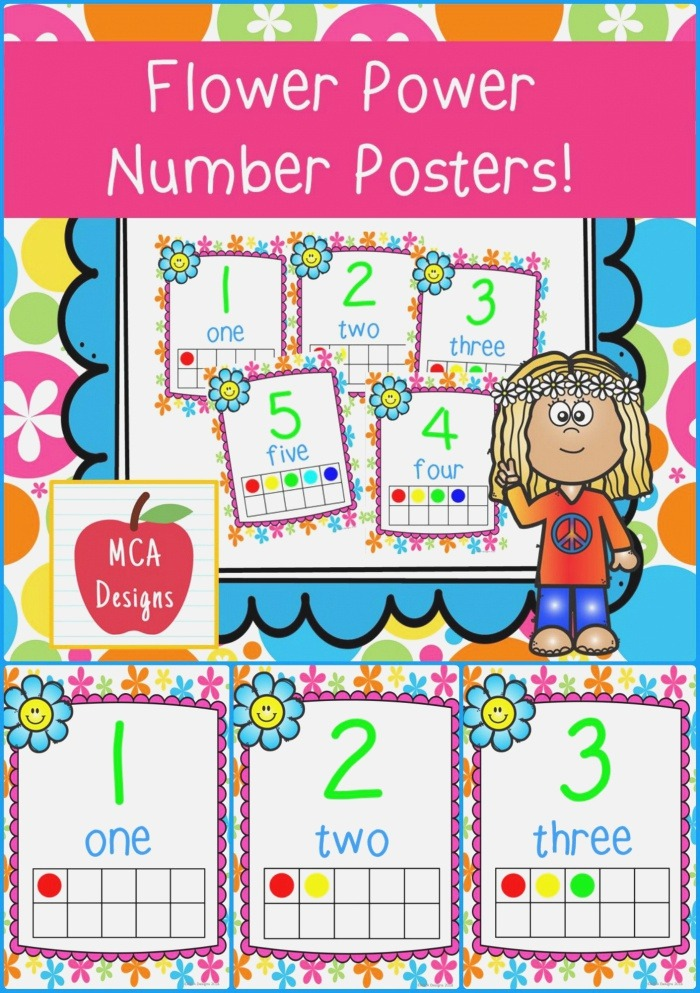 Flower Power Number Posters