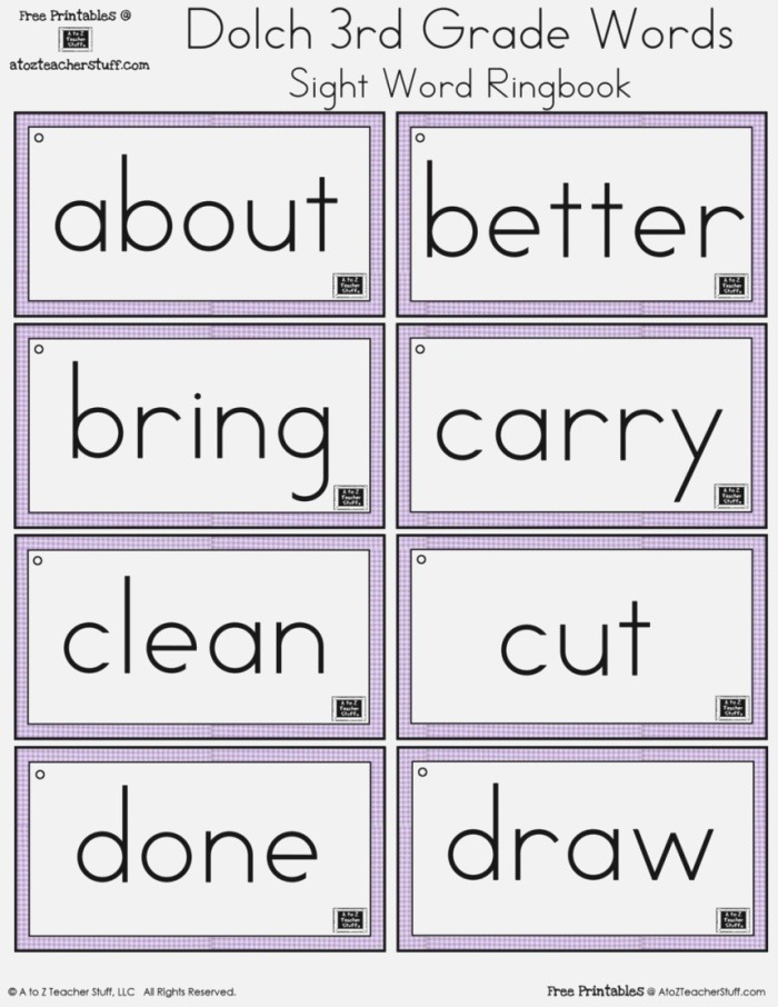 Fourth Grade Sight Words Worksheets — Db Excel