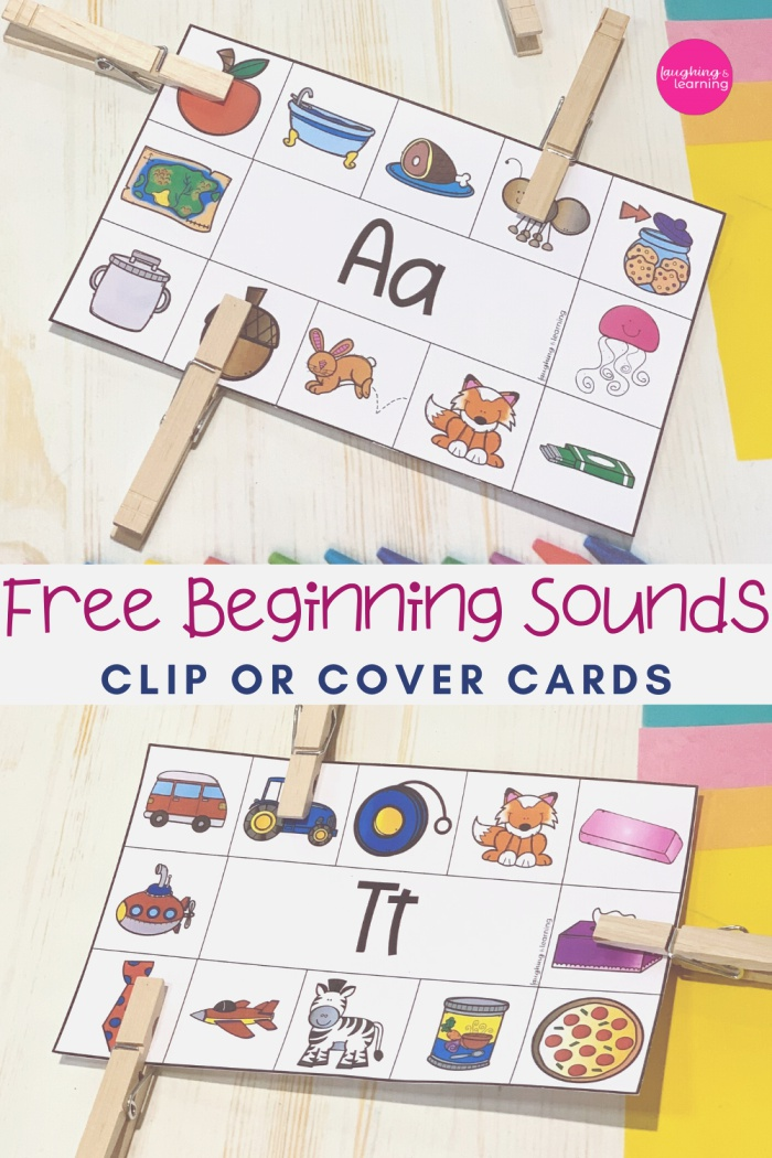 Free Beginning sound Clip or Cover Cards