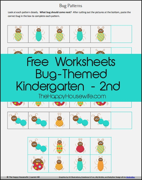 Free Printable Friday Bug themed Worksheets the Happy