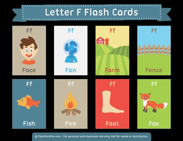 Free Printable Letter F Flash Cards Download them In Pdf