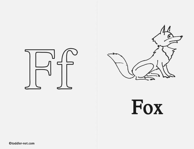 Free Printable Letter F Flashcard and Worksheet