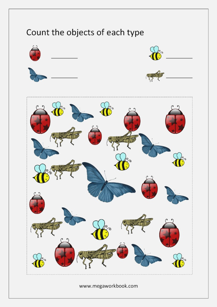 Free Printable Number Counting Worksheets Count and