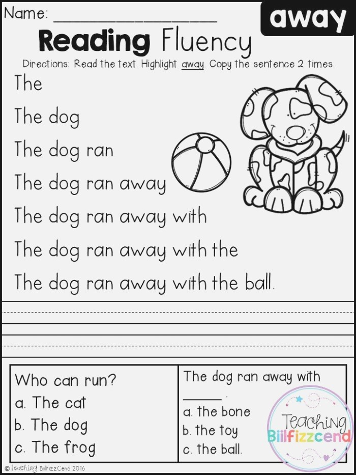 Free Reading Fluency and Prehension Set 1