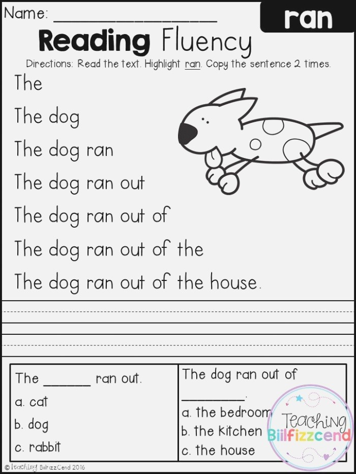 Free Reading Fluency and Prehension Set 2