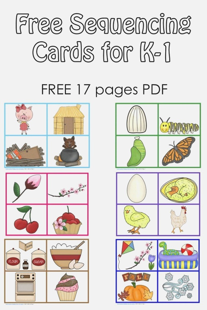 Free Sequencing Cards and Color Matching for Pre K K 1 3