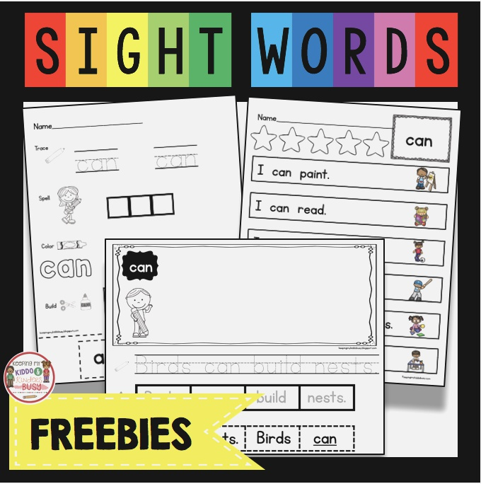 Free Sight Word Activities — Keeping My Kiddo Busy In 2020