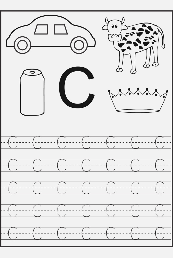 Free Trace the Letter C Simple Preschool Crafts