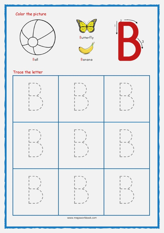 Free Tracing Letters A Z Worksheets
