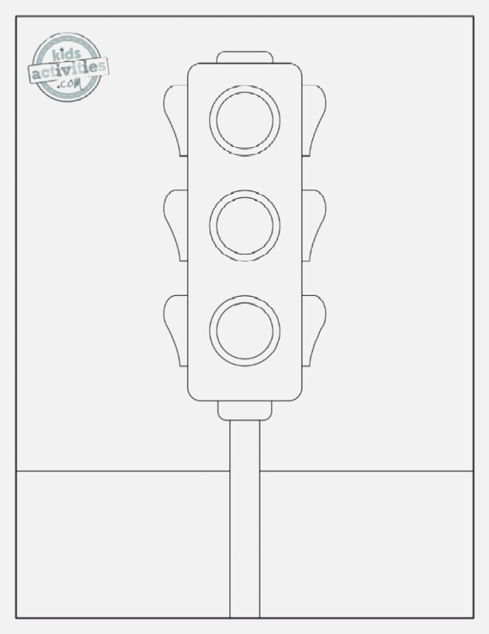 Free Traffic & Stop Sign Coloring Pages Road Signs