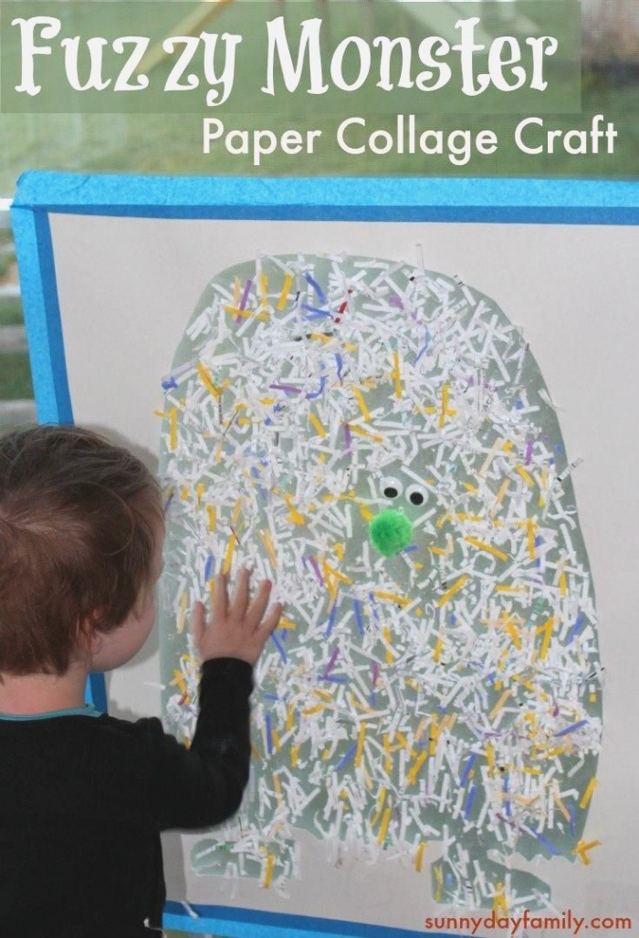Fuzzy Monster Activity for Preschoolers with Images