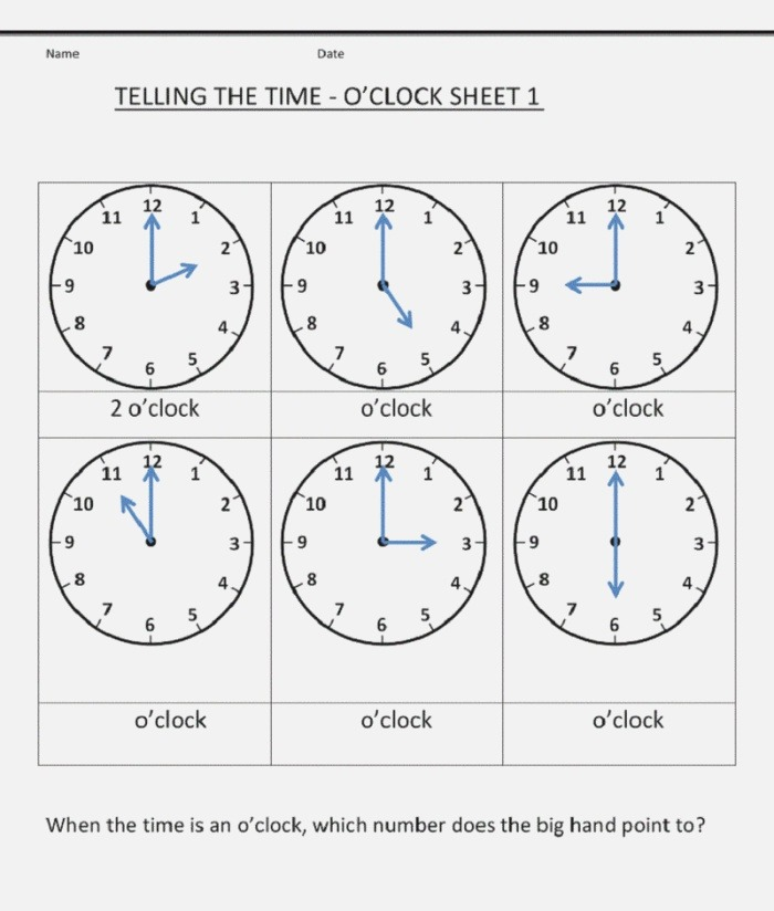 Grade 1 Worksheets Telling Time 001 Coloring Sheets