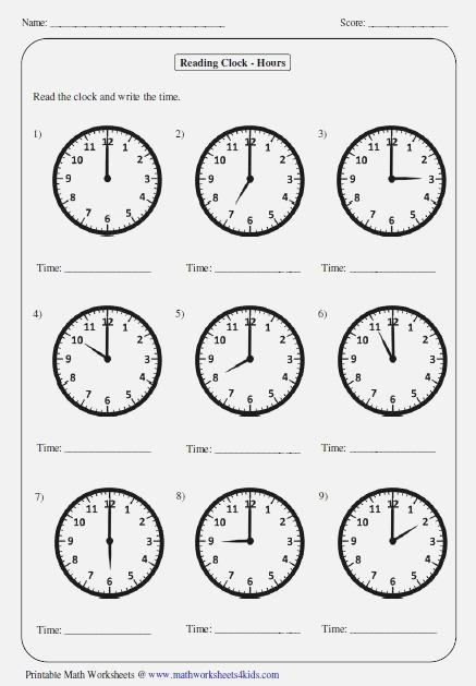 Great Worksheets for Telling Time Perfect for Years 1 5