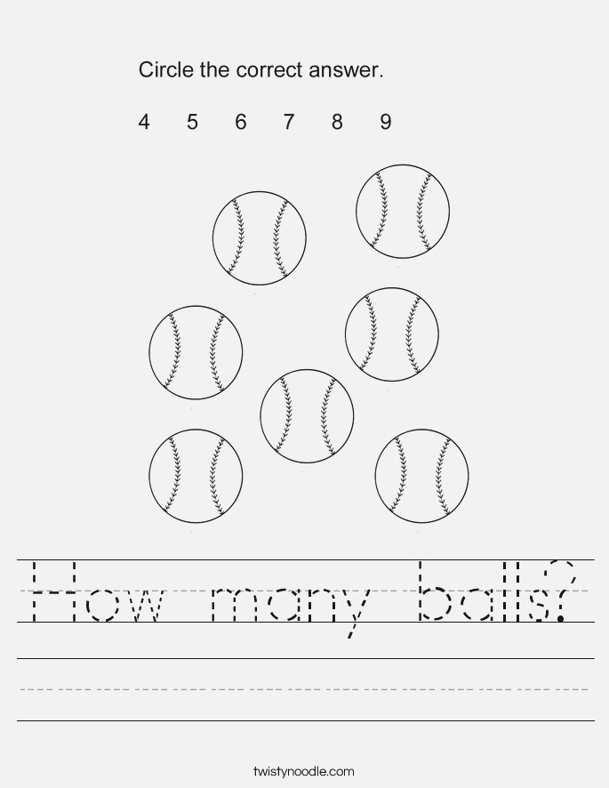 Right In the Balls Worksheets