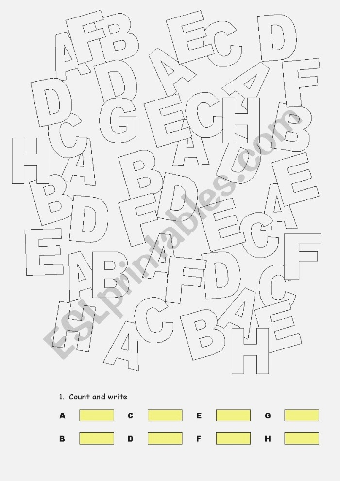 How Many Letters Can You Find Esl Worksheet by Semper Mia
