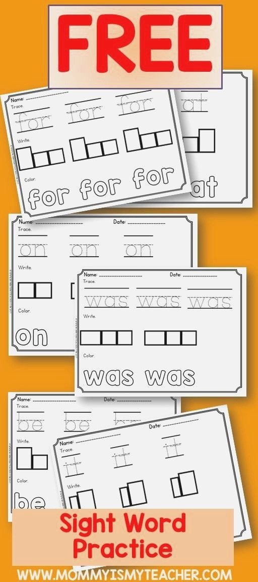 I Just Printed Free Sight Word Worksheets for My