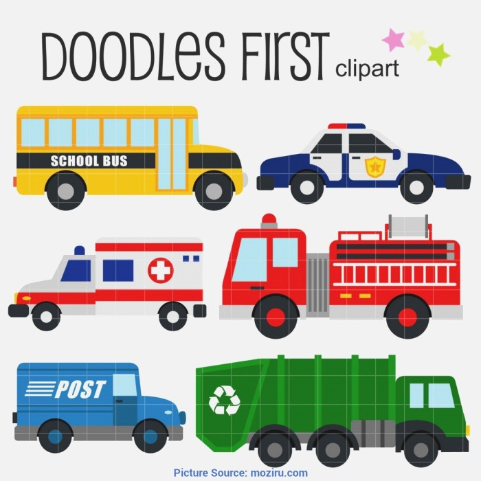 Interesting Munity Helpers Vehicles Vehicle Clipart