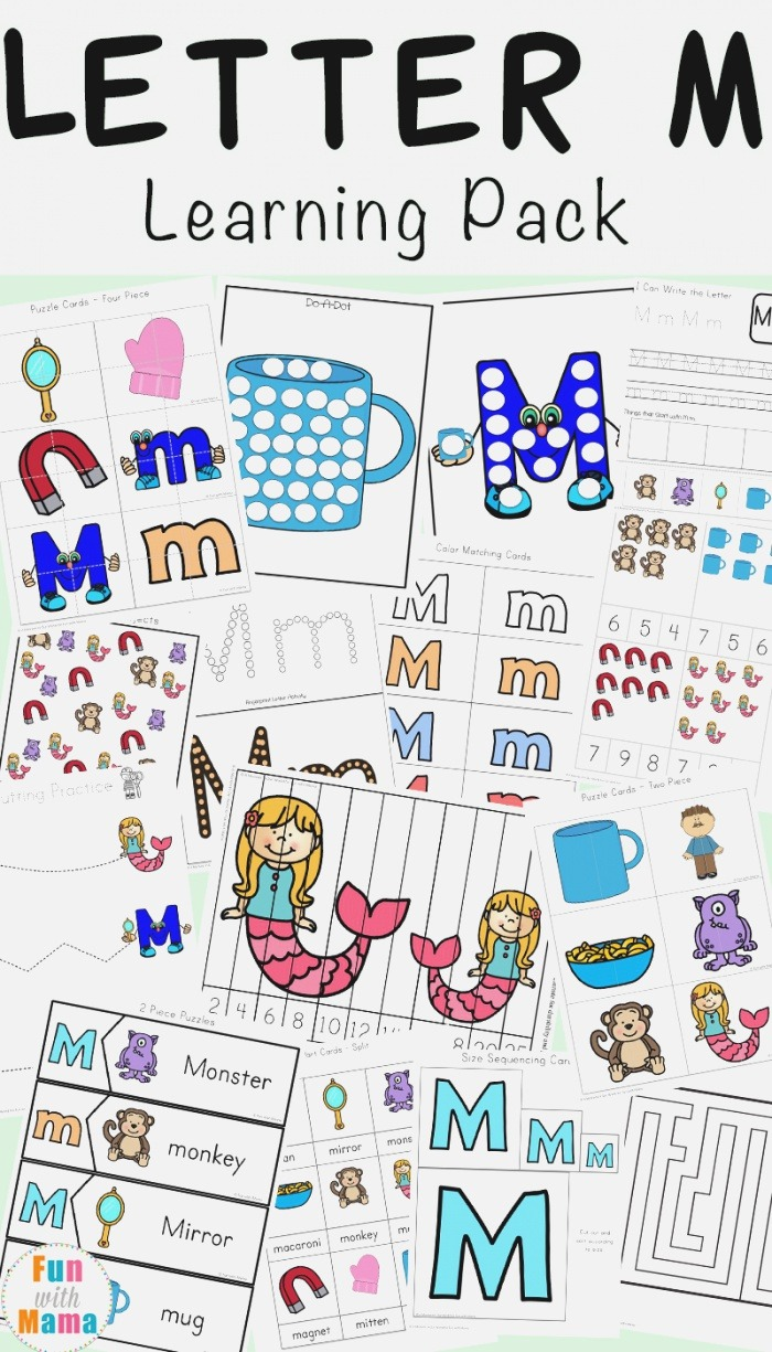 Letter M Worksheets Fun with Mama